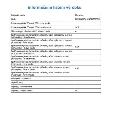 ELECTROLUX EKK54950OX PlusSteam SPORÁK KOMBINOVANÝ
