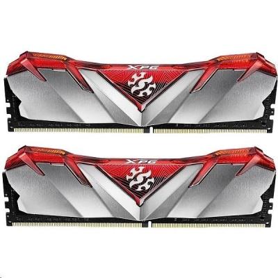 DIMM DDR4 16GB 3000MHz CL16 (KIT 2x8GB) ADATA XPG GAMMIX D30 memory, Dual Color Box, Red