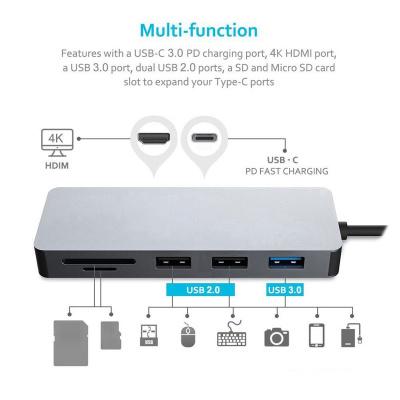 PLATINET adaptér USB-C na HDMI, 4K 7IN1