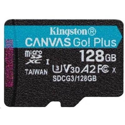 Kingston 128GB microSDXC Canvas Go Plus 170R A2 U3 V30 Single Pack bez ADP