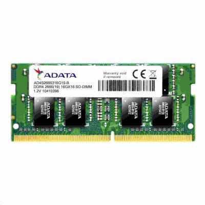 SODIMM DDR4 16GB 2666MHz CL19 (KIT 2x8GB) ADATA Premier memory, 1024x8, Dual