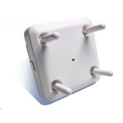 Cisco Aironet 3802e vnitřní AP - 802.11a/b/g/n/ac Wave 2 - Duální pásmo, 1x 5GbE, 1x 100/1000 autosensing, PoE, ext. ant