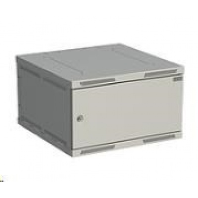 Solarix rozvaděč nástěnný SENSA 6U 600mm, dveře plech, RAL 7035 SENSA-6U-66-21-G
