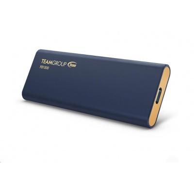 Team external SSD 1TB PD1000 USB 3.2 Gen-2 10Gbps (R:1000, W:900 MB/s), IP68 waterproof, navy blue