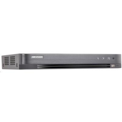 HIKVISION Hybridní NVR, 4x analog + 2x IP, 1x HDD(až 10TB), FHD, 2xUSB, 1xHDMI a 1xVGA, BNC, audio in/out