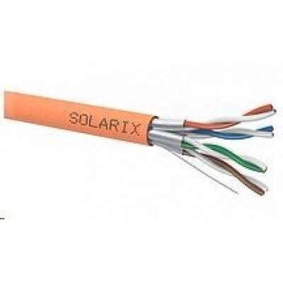 Instalační kabel Solarix STP, Cat6A, drát, LSOHFR, cívka 500m SXKD-6A-STP-LSOHFR-B2ca