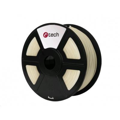 C-TECH Tisková struna (filament) PETG, 1,75mm, 1kg, transparentní