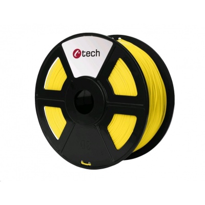 C-TECH Tisková struna (filament) ASA, 1,75mm, 1kg, žlutá