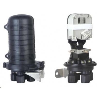 XtendLan Spojka, optická, vodotěsná, zemní/zeď/stožár, 24 vláken 4x6, 4 prostupy, matice, 300x188mm