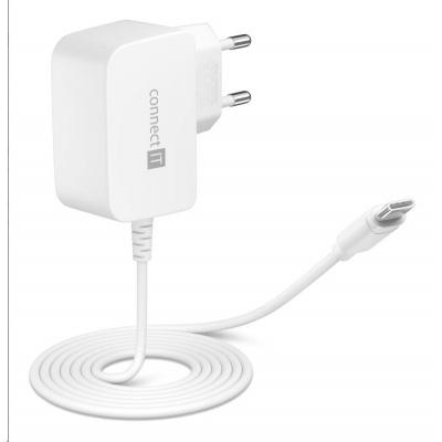 CONNECT IT InWallz SNAKE nabíjecí adaptér s kabelem USB-C, 2,4A, bílá
