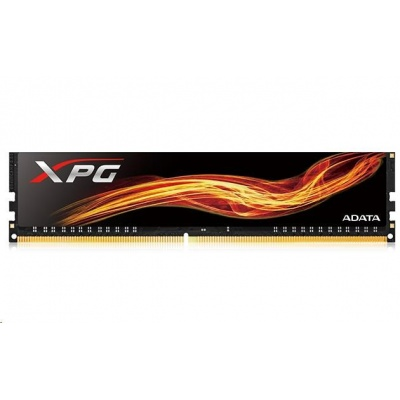DIMM DDR4 8GB 3000MHz CL16 ADATA XPG Flame memory, Single Tray, Black