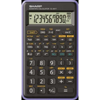 SHARP kalkulačka - EL-501T - bílá (balení box)