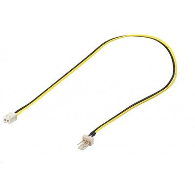 PREMIUMCORD Kabel napájecí pro ventilátor z 2 pinového FAN na 3 pinový FAN konektor pro zastrčení do ventilátoru