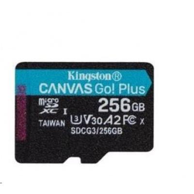 Kingston 256GB microSDXC Canvas Go Plus 170R A2 U3 V30 Single Pack bez ADP
