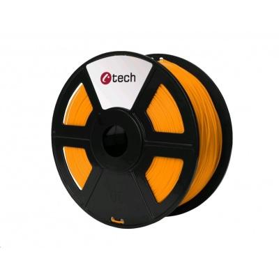 C-TECH Tisková struna (filament) PETG, 1,75mm, 1kg, oranžová