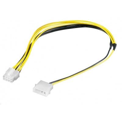 """PREMIUMCORD Kabel napájecí 5.25"""" na EPS 8-pin pro napájecí zdroj, M/M, 28cm"""